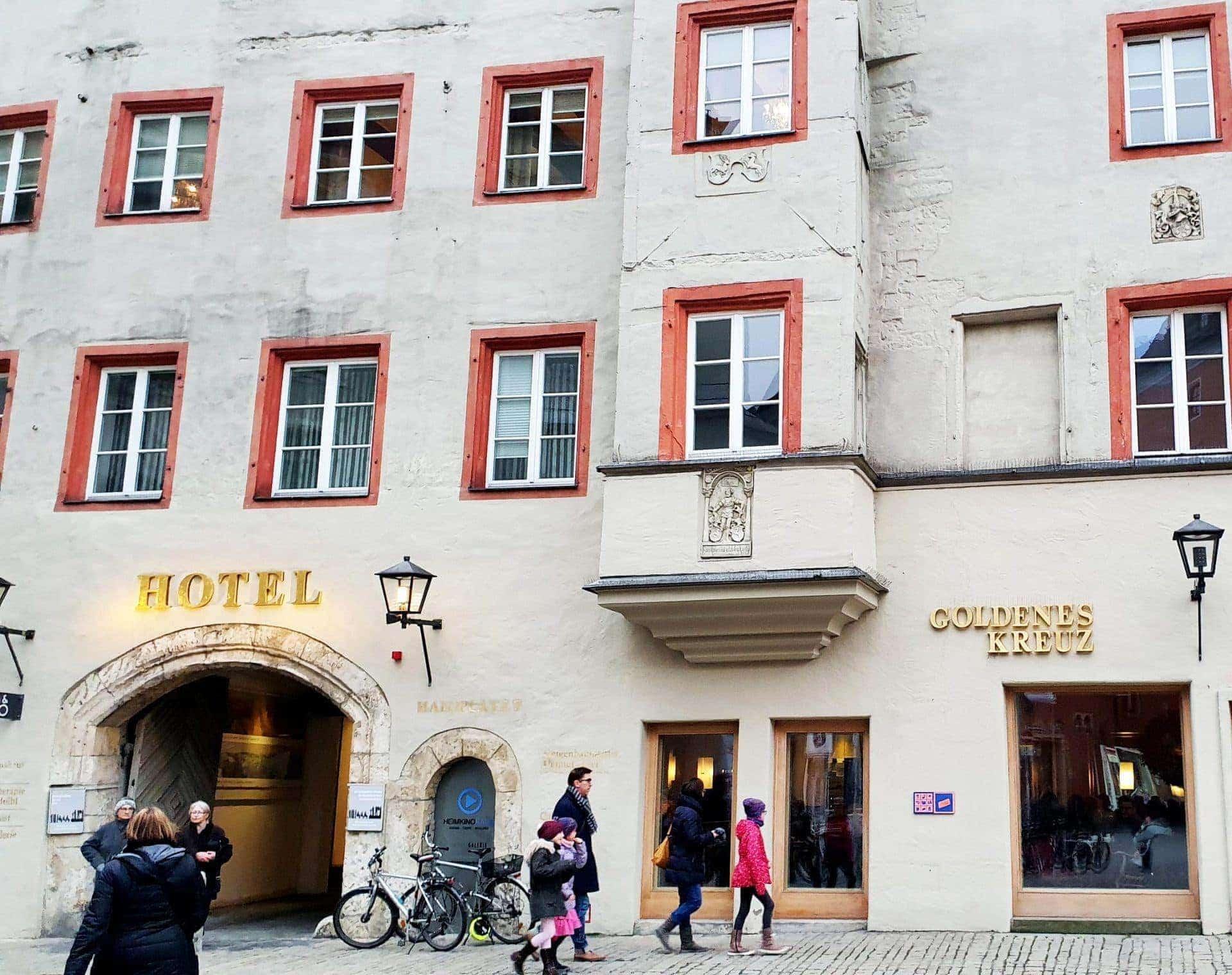 Auch das Hotel Goldenes Kreuz am Haidplatz nahm am Aktionstag teil