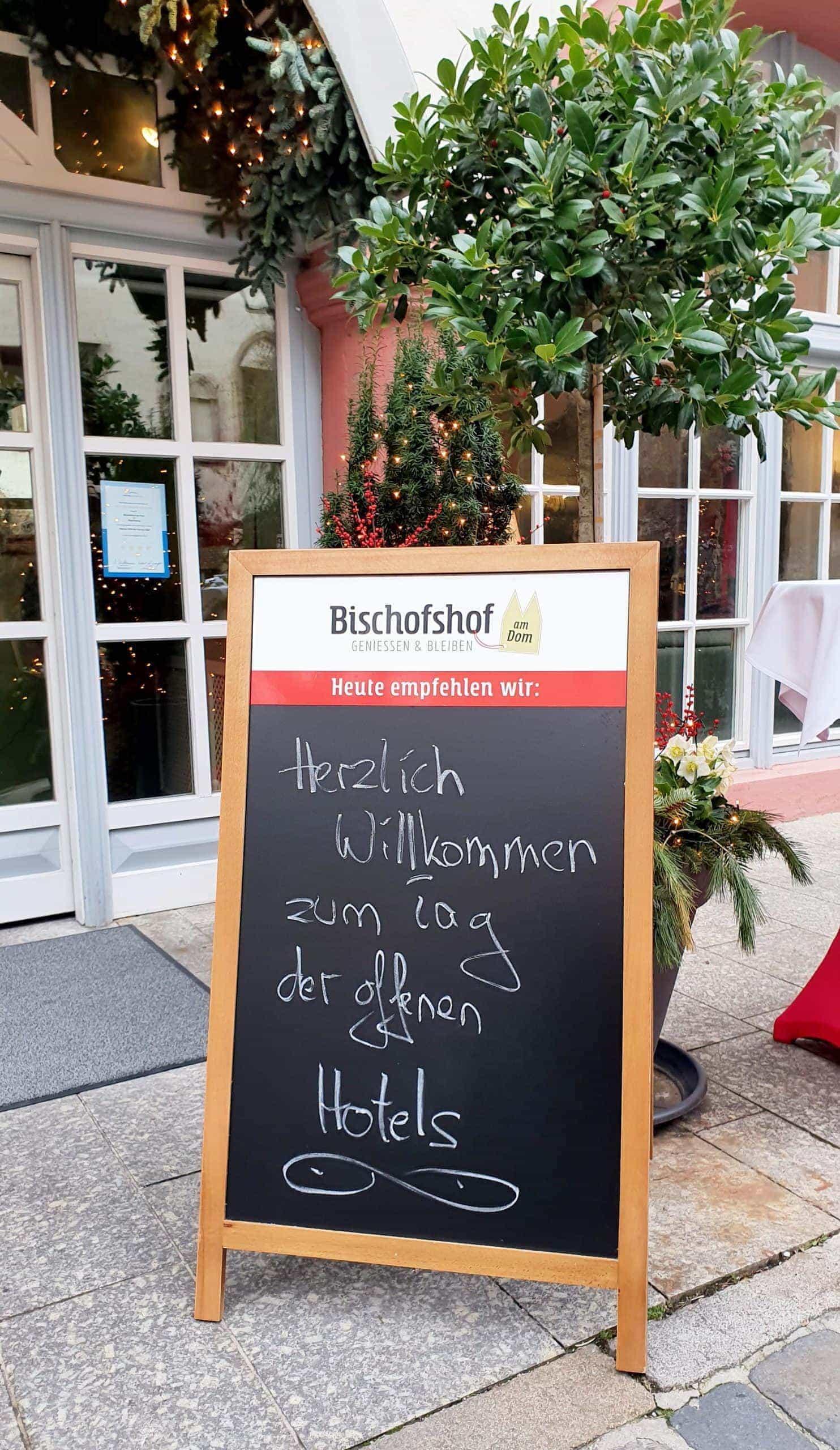 Das Hotel Bischofshof begrüßte die Gäste zum Aktionstag am 12. J anuar 2020