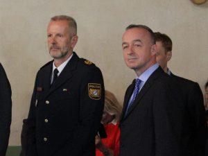 Oberpfälzer Polizeivizepräsident Thomas Schöniger und Rechtsreferent Dr. Walter Boeckh