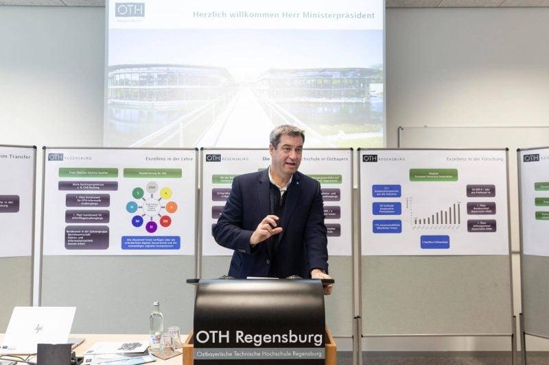 Dr. Markus Söder an der OTH Regensbur