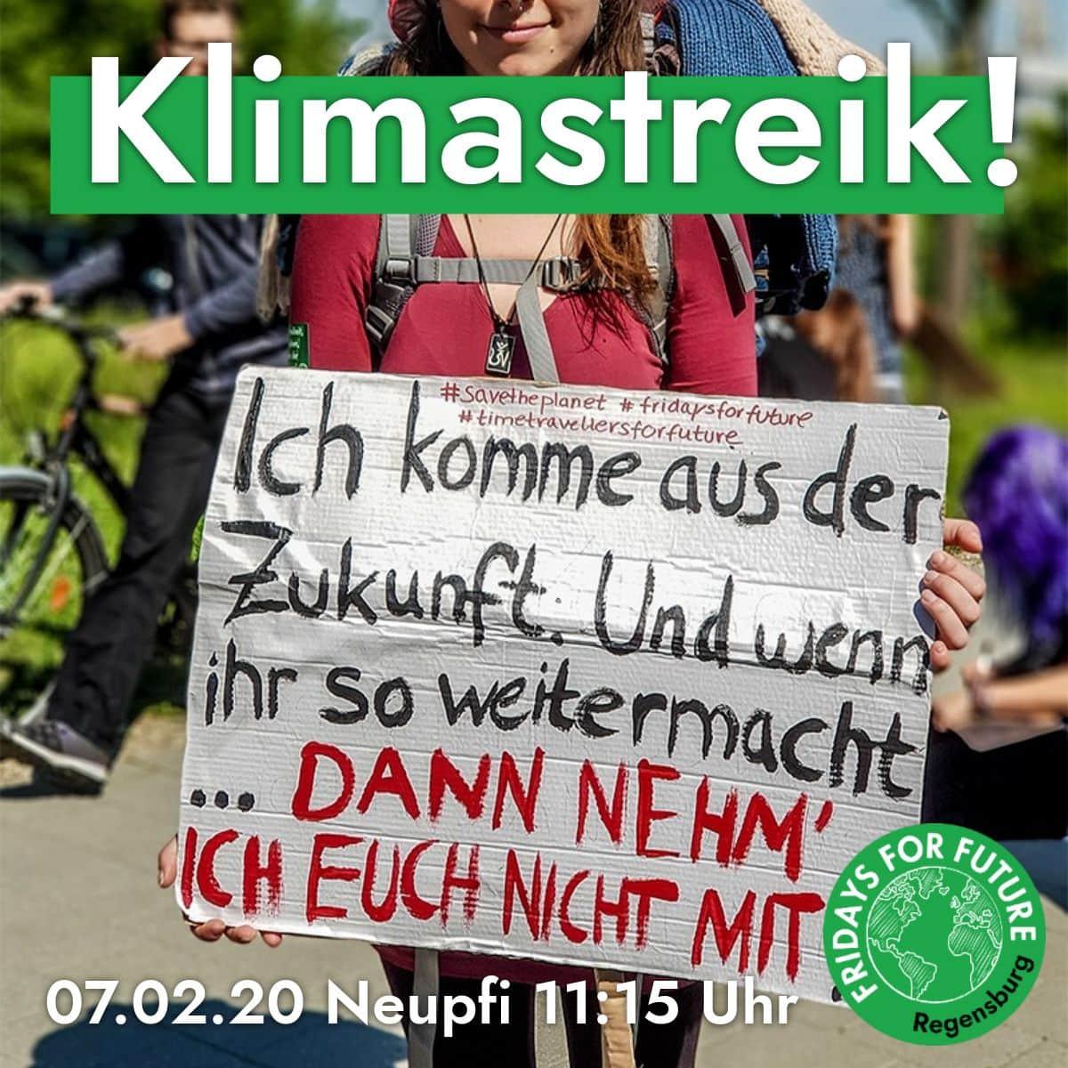 Sie streiken, solange sich nichts ändert Fridays for Future in Regensburg: Jubiläumsdemonstration am 7. Februar