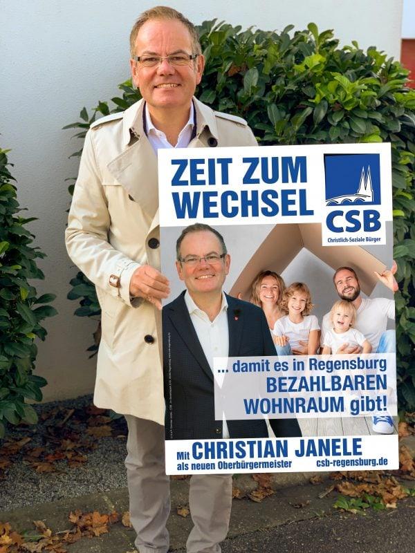 OB-Kandidat Christian Janele hat viele Ideen, wie er und die CSB die Stadt wieder auf Erfolgskurs bringen