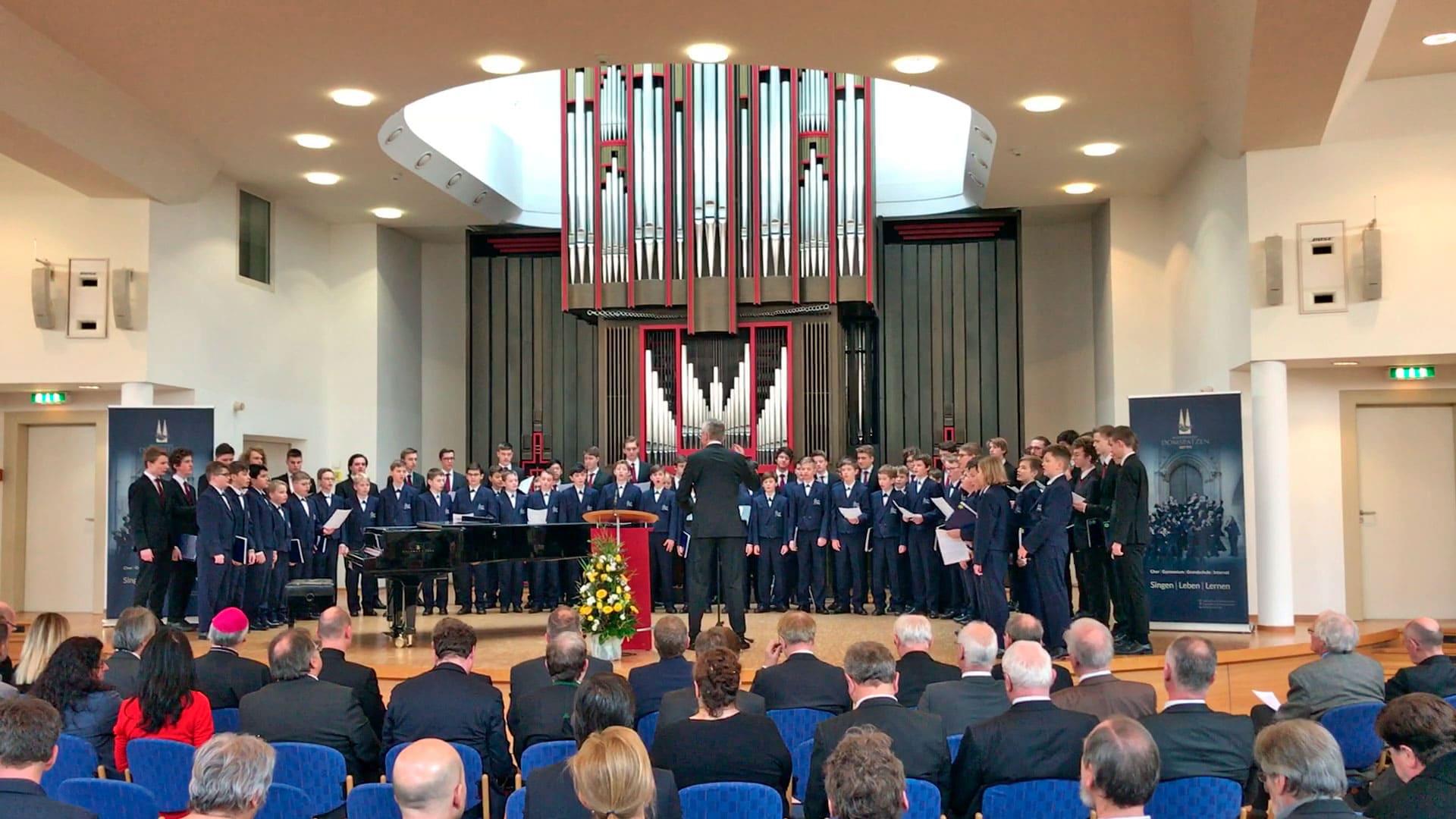 Regensburger Domspatzen Festakt zum Abschluss der Generalsanierung