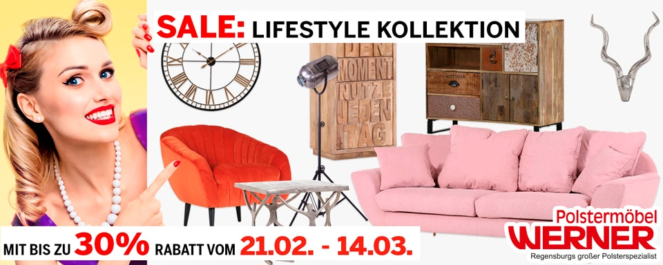 Sale Lifestyle Kollektion bei Polstermoebel Werner