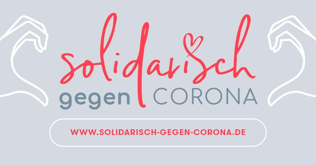 Web-Plattform: Solidarisch gegen Corona Marketingagentur Bauer & Frischluft aus Schierling schafft Klarheit