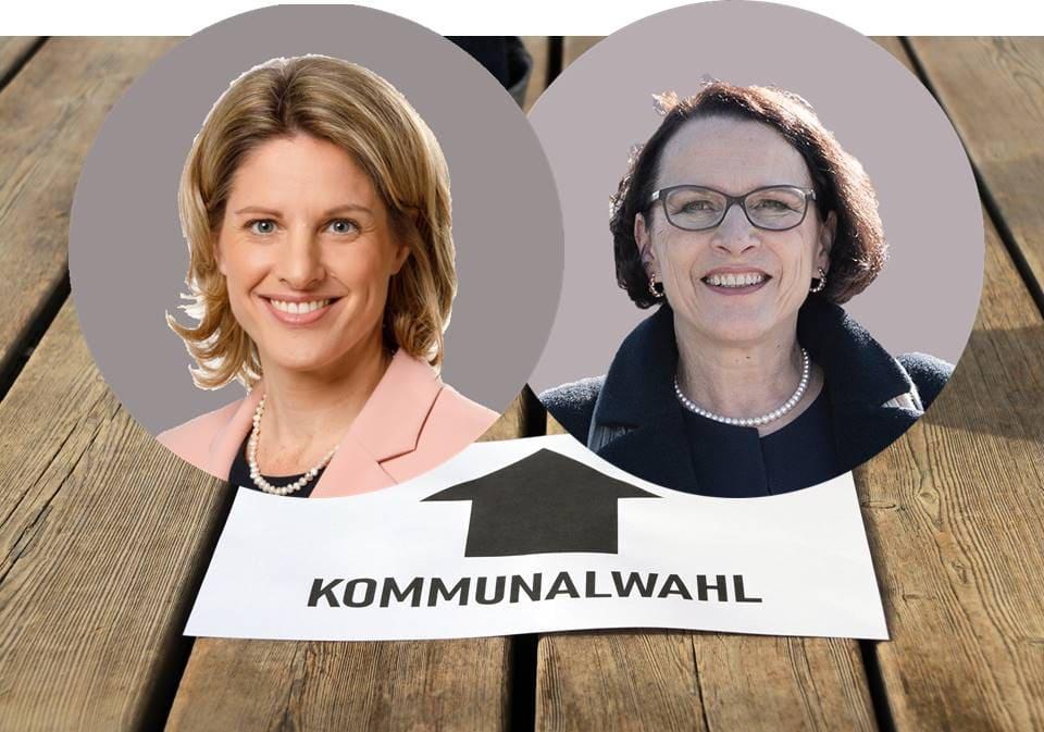 Regensburgs neue Oberbürgermeisterin Stichwahl zwischen Astrid Freudenstein (CSU) und Gertrud Maltz-Schwarzfischer (SPD)