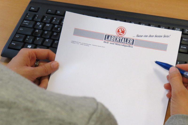 Labertaler sagt Rechnungspapier adé In Zukunft sollen alle Rechnungen per E-Mail versandt werden