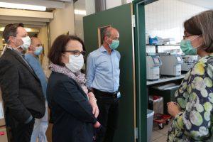 Besichtigung des Labors