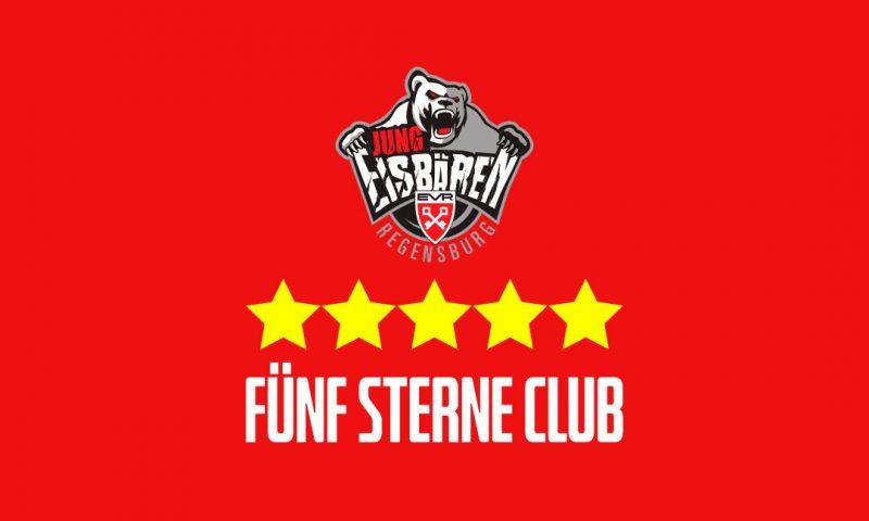 Fünf Sterne für die Jung-Eisbären Die Nachwuchsarbeit der Jung-Eisbären Regensburg ist durch den Deutschen Eishockey Bund zum vierten Mal mit fünf Sternen zertifiziert worden.