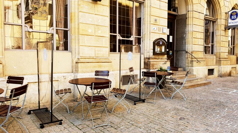 Außenbereich des Hofbräuhauses am Rathausplatz