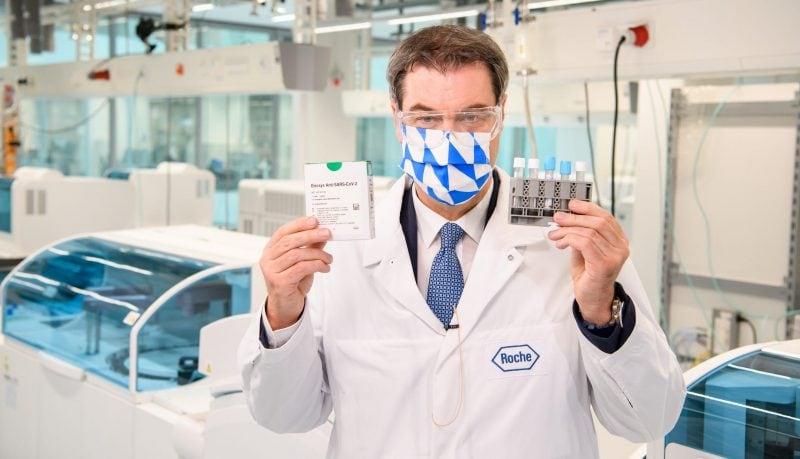 Ministerpräsident Dr. Markus Söder mit Antikörper-Test