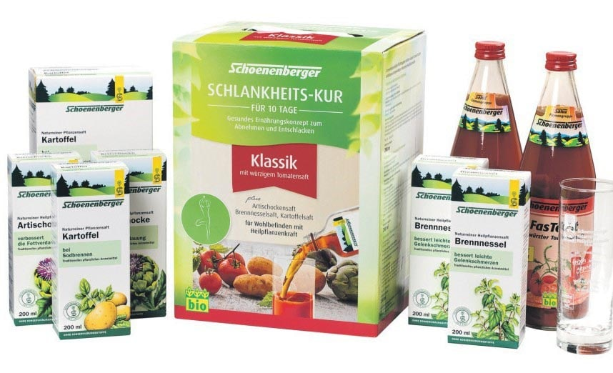 Mit Pflanzenkraft aus dem Reformhaus zum Wohlfühl-Ich Bei Vilsmeier in Regensburg gibt's die Schoenenberger Schlankheits-Kur mit jeder Menge Tipps und Tricks zum Abnehmen