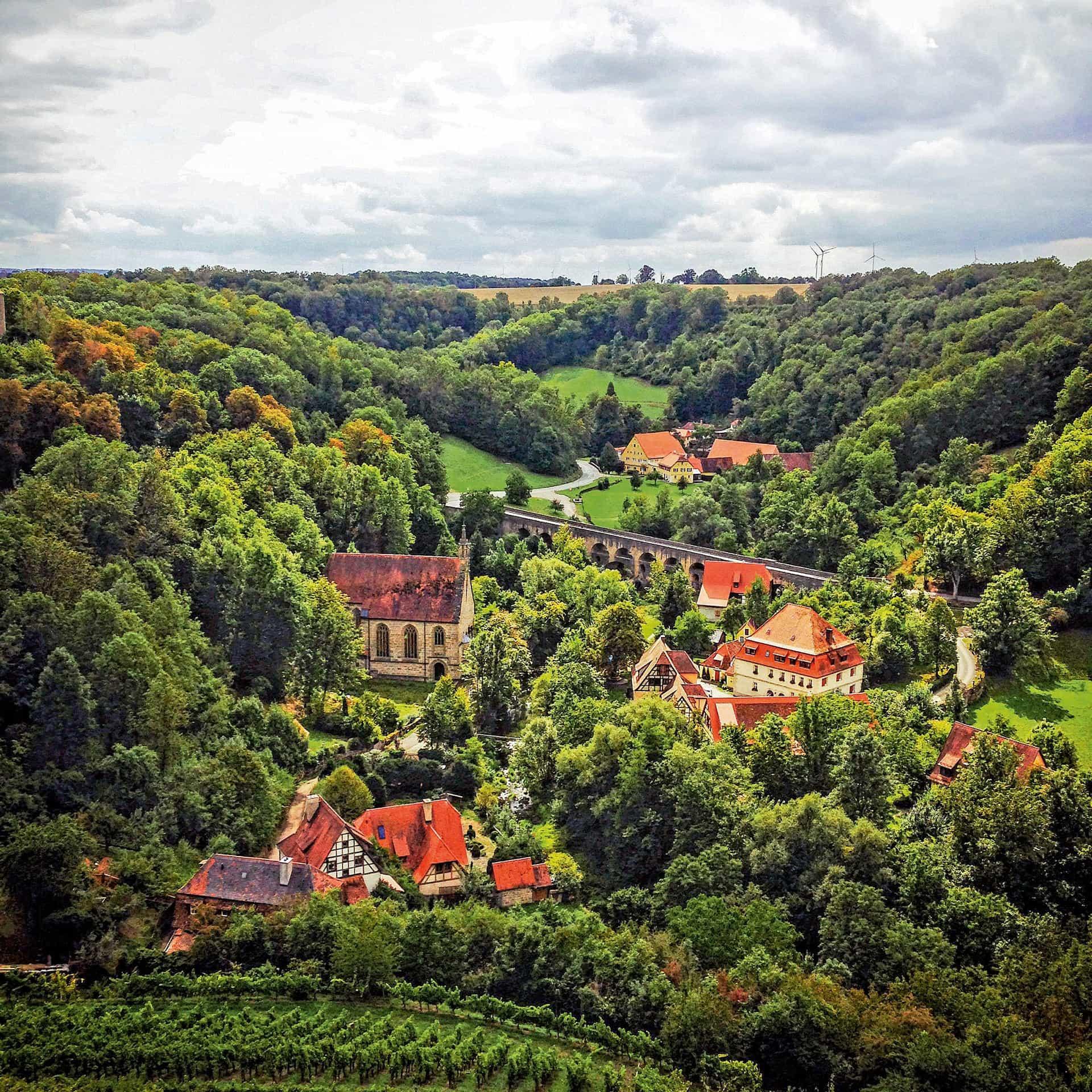 """2020 und 2021 wird Rothenburg ob der Tauber zum Landschaftsgarten Ein """"Must See""""-Ort im süddeutschen Raum"""