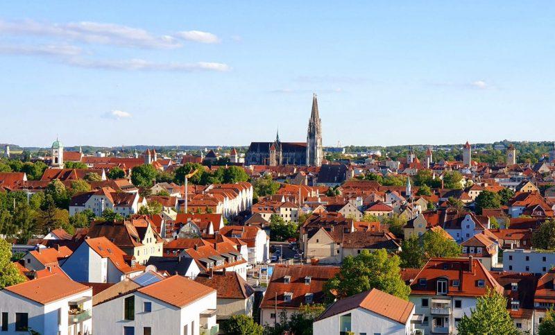 Regensburg vom Dreifaltigkeitsberg aus