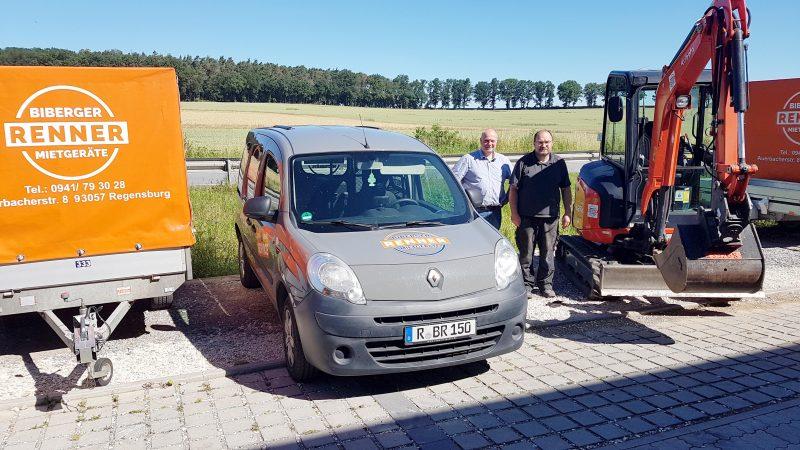 Biberger-Renner vermietet jetzt auch Radlader, Minibagger und Dumpster Mietgeräte-Verleih aus Regensburg hat sein Sortiment vergrößert / Meisterbetrieb punktet mit Liefer- und Abholservice