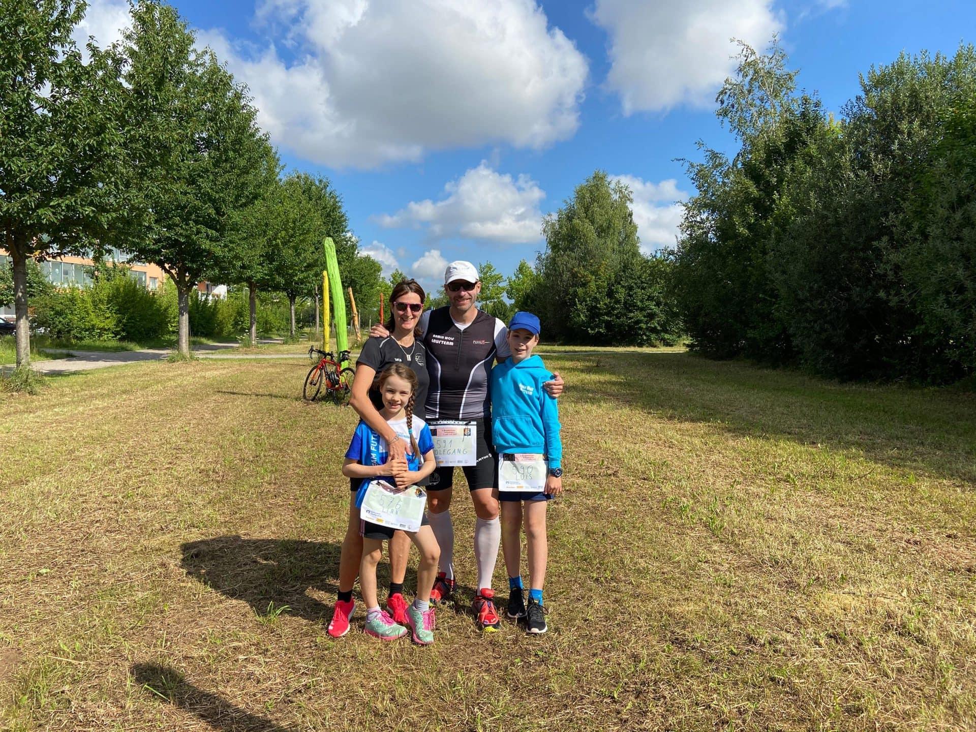 Laufen liegt ihnen in den Genen Familie Scholz mit Top-Leistungen beim Burgweintinger Frühjahrslauf