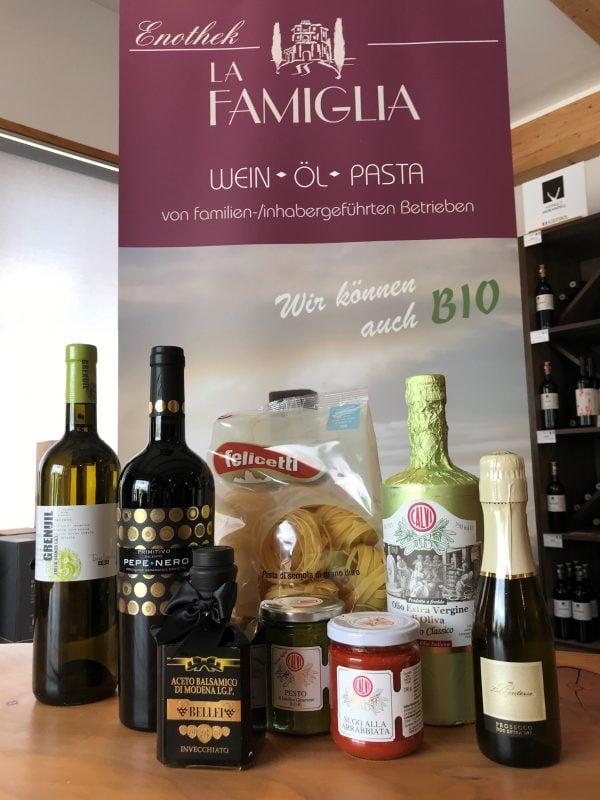 """Weine aus Leidenschaft sowie Olivenöle & Pasta aus Passion bei """"La famiglia"""""""