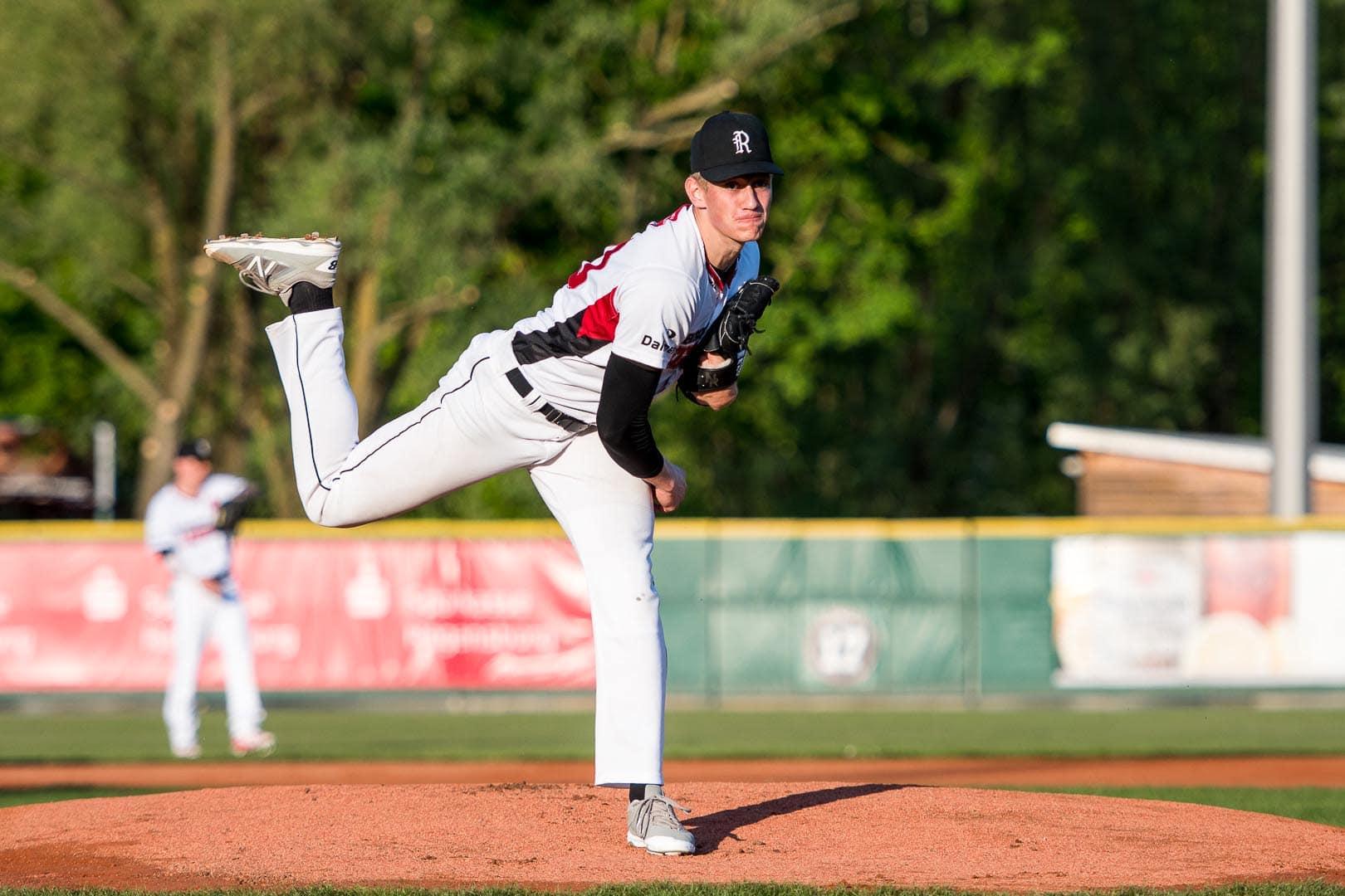 In Corona-Saison von Anfang an gefordert Baseball: Buchbinder Legionäre gegen Ulm Falcons / US-Profi Niklas Rimmel spielt für Regensburg