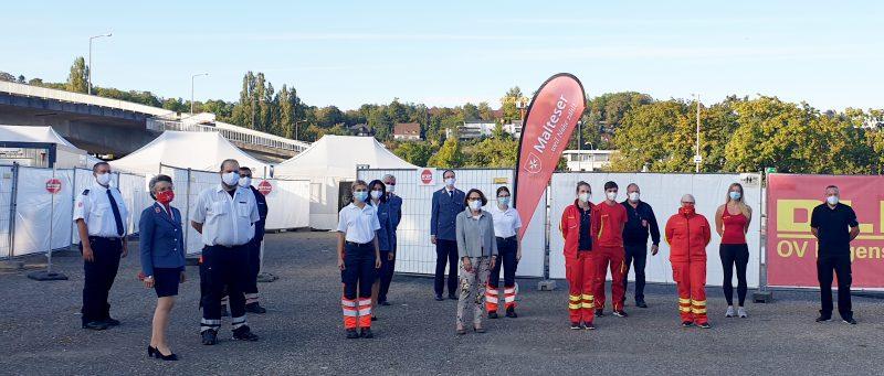 Corona-Teststation für Regensburg und den Landkreis Oberbürgermeisterin dankt Ehrenamtlichen