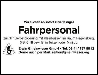 Stellenanzeige-Erwin-Gmeinwieser-GmbH