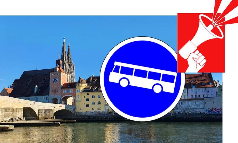 Wegen Warnstreik: Massive Einschränkungen im Stadtbusverkehr Am Montag und Dienstag kommt es in Regensburg zu massiven Ausfällen im ÖPNV