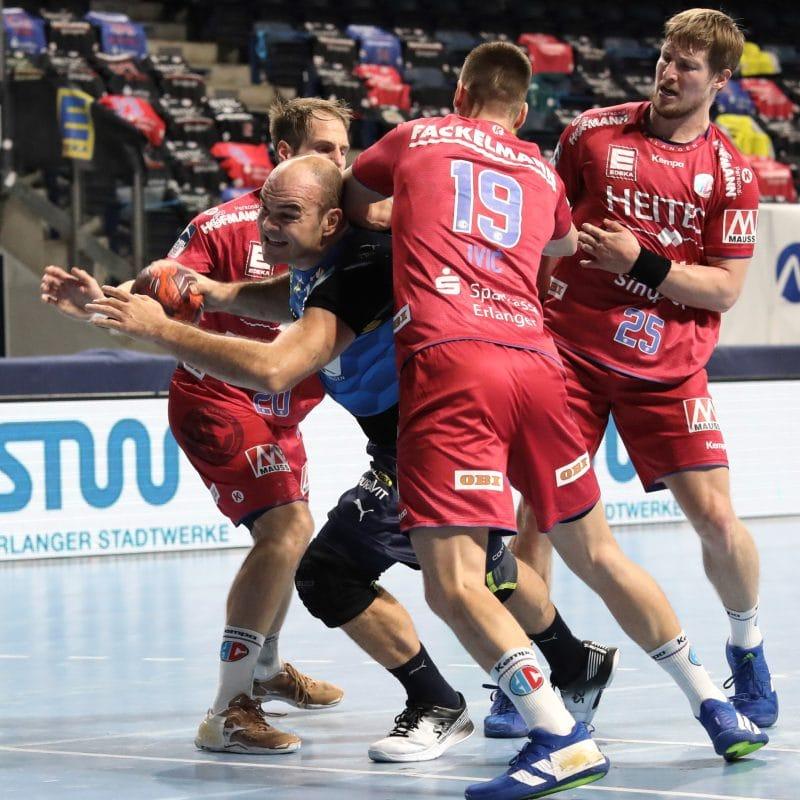 Handball: HC Erlangen verliert gegen die Löwen Die Löwen gaben gleich Gas