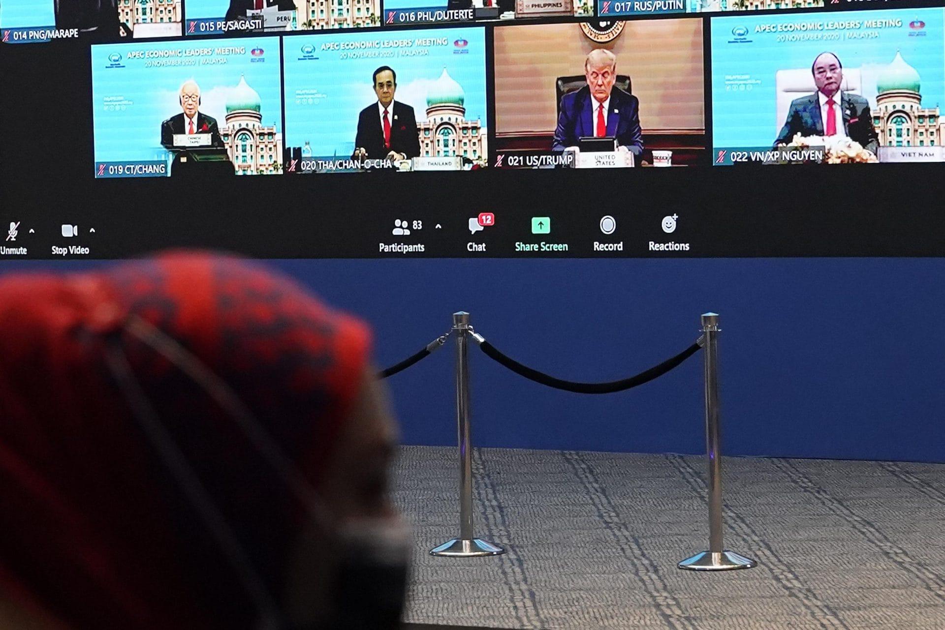 Asien-Pazifik-Gipfel: Trump trifft erstmals wieder Xi Zum Auftakt der Videokonferenz