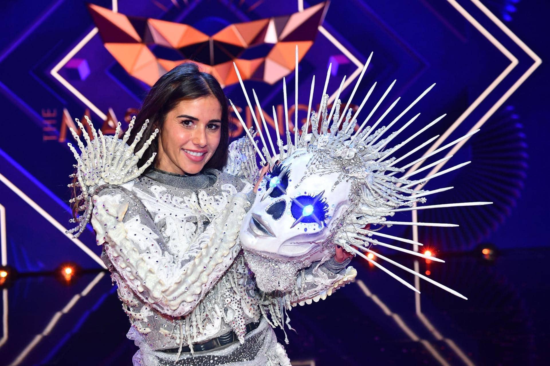 Auf kahlen Knochen: Sarah Lombardi gewinnt «Masked Singer» Skelett mit Eis-Augen