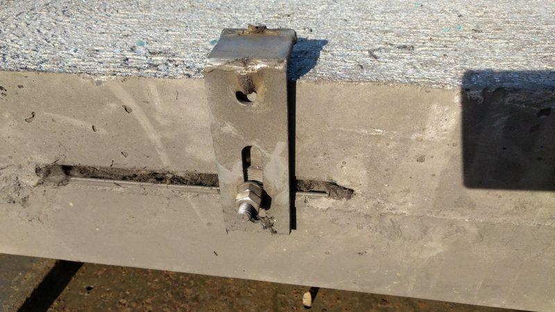 Betonplatten-Unfall