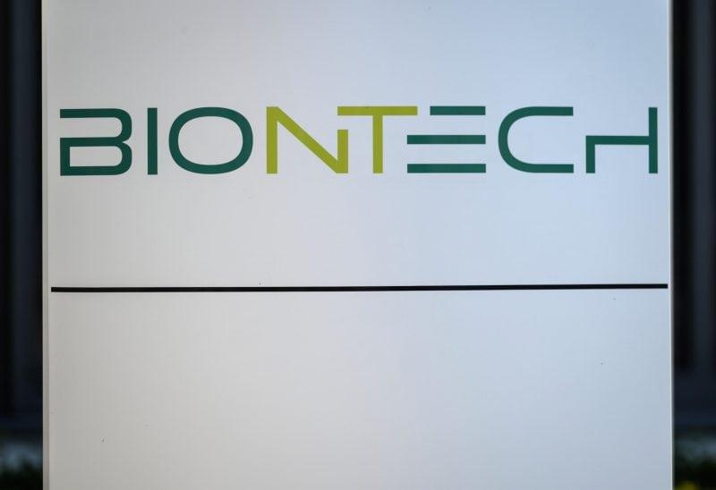 Biontech-Schriftzug