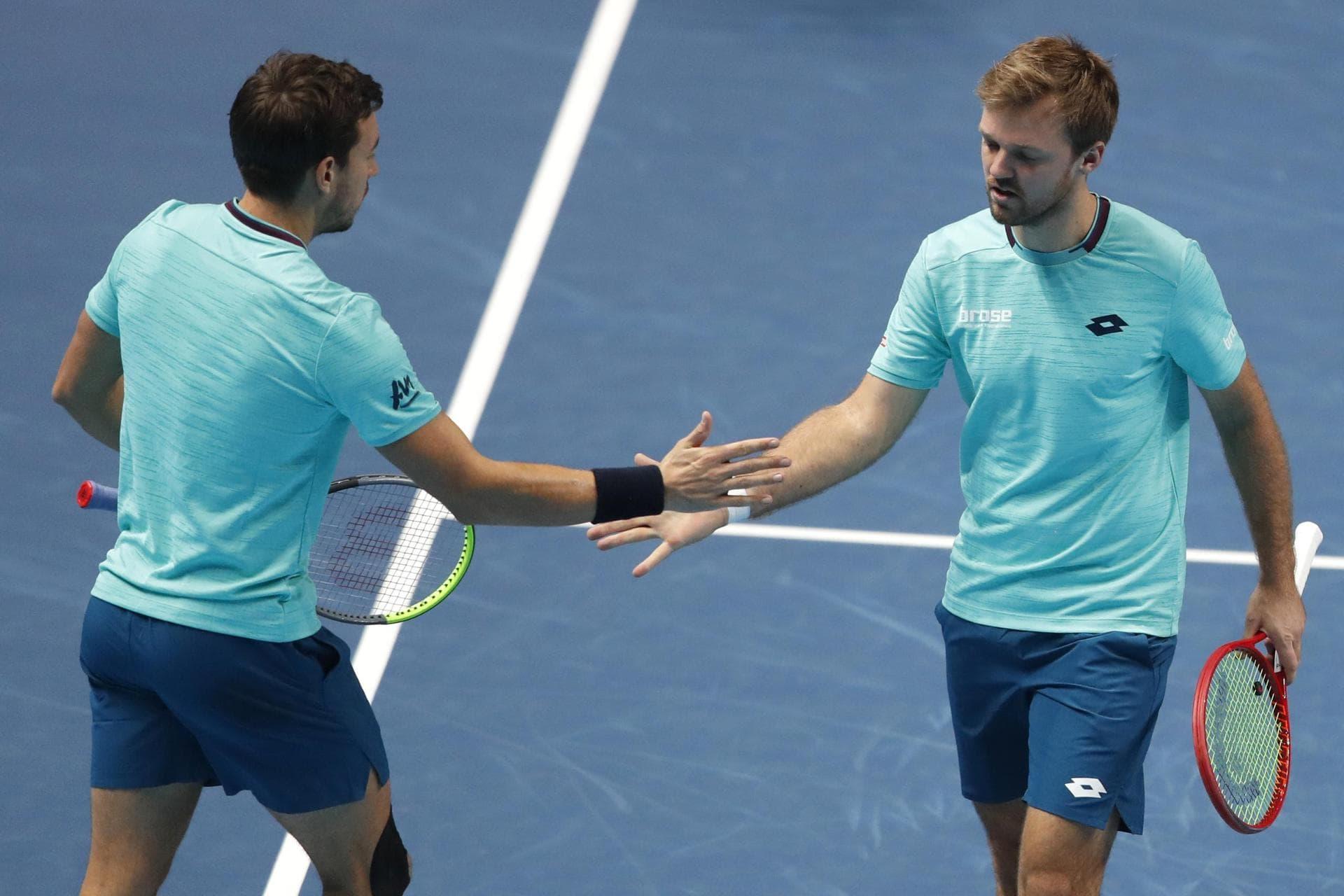Erster Sieg für Krawietz/Mies bei ATP Finals in London Deutsches Erfolgsdoppel