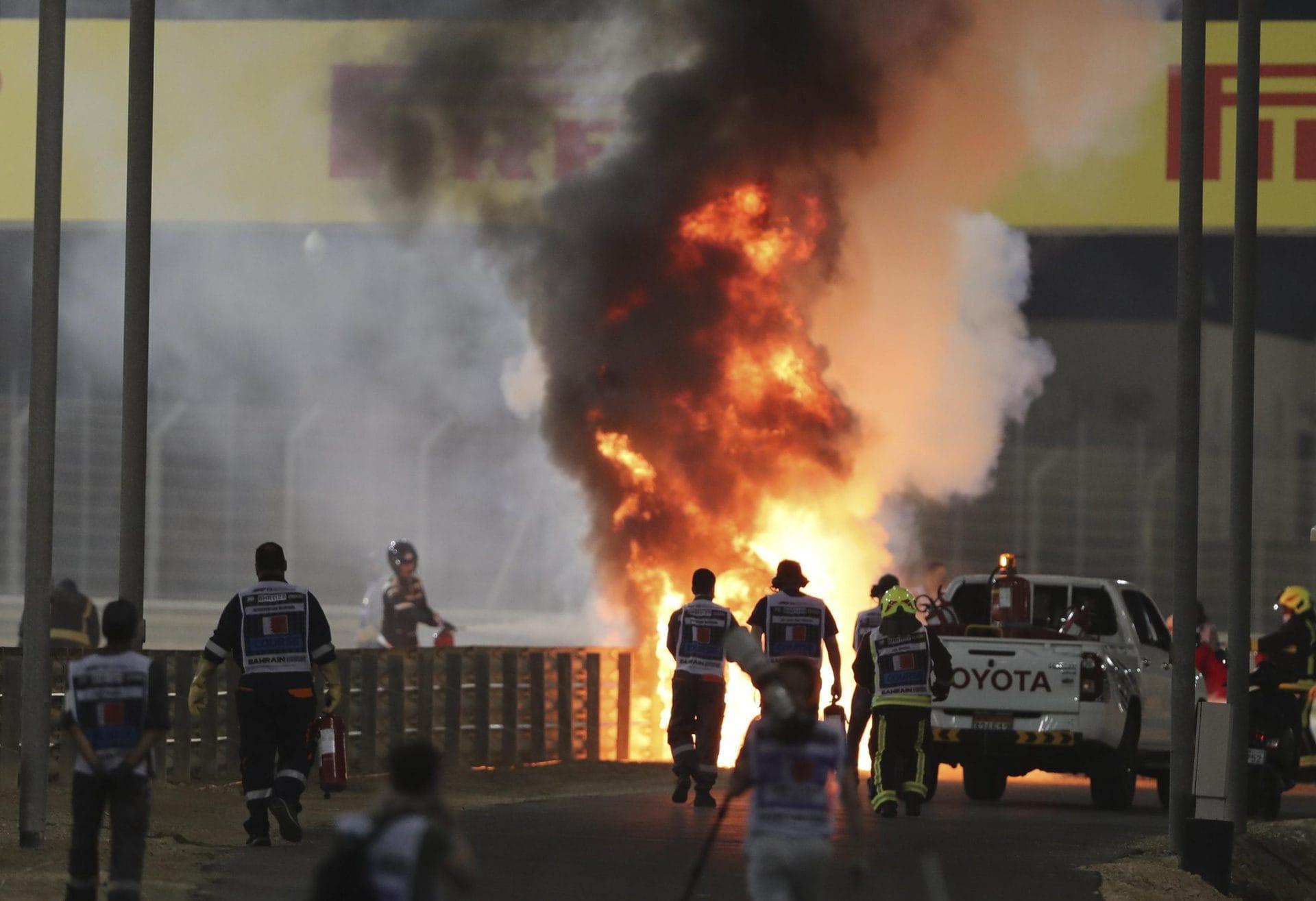 Feuer-Unfall überschattet Hamilton-Sieg in Bahrain Formel 1