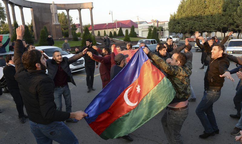 Freude in Aserbaidschan