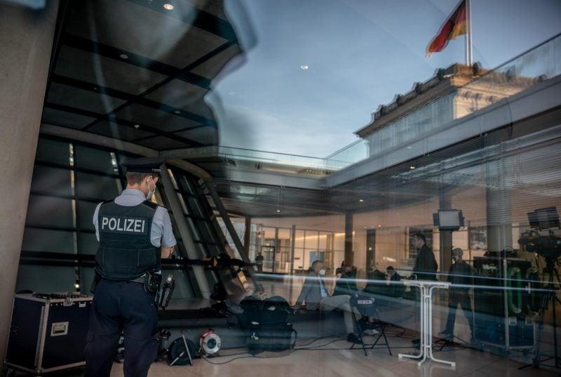 Polizei im Bundestag