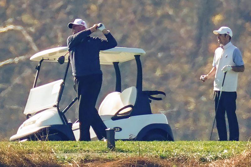 Trump beim Golfen