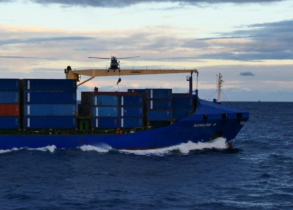 Boarding des türkischen Frachters «Roseline A»