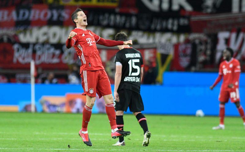 Dank Weltfußballer Robert Lewandowski drehten die Bayern das Spitzenspiel in Leverkusen.