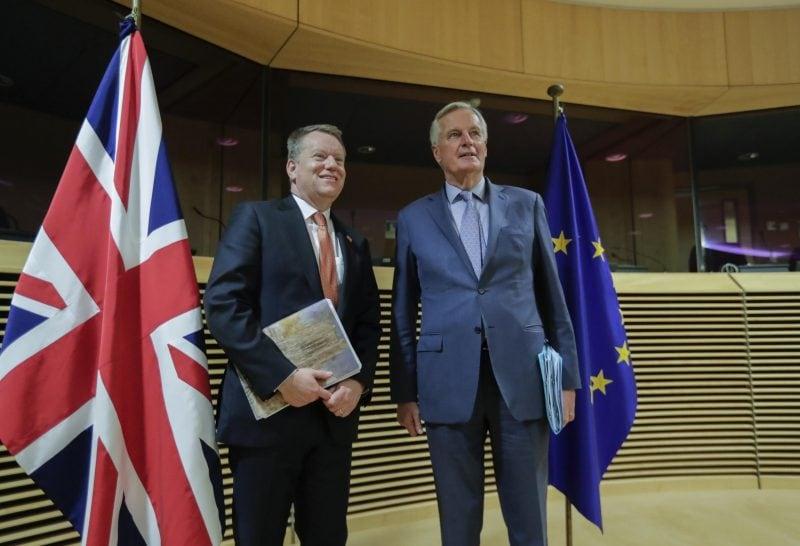 David Frost und Michel Barnier