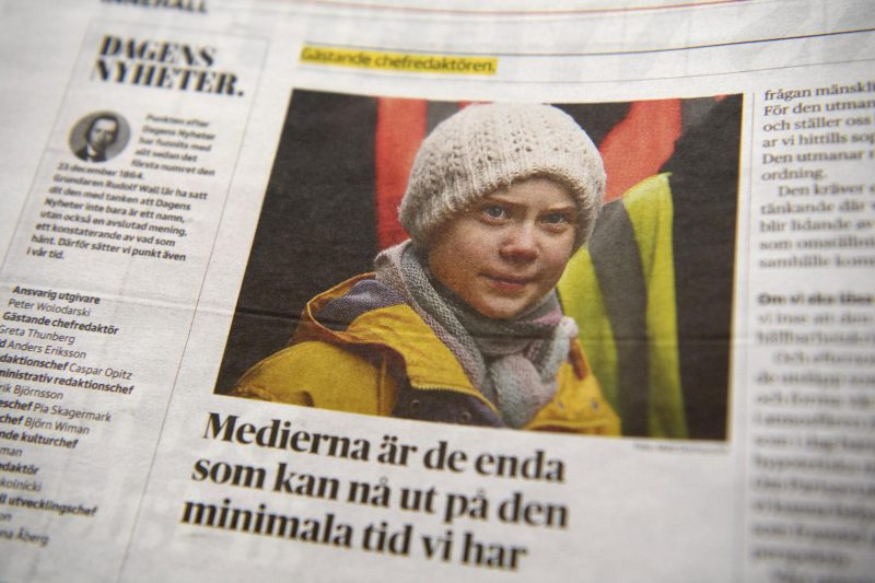 Aktivistin Thunberg als Chefredakteurin