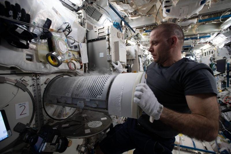 Kosmonaut auf der ISS