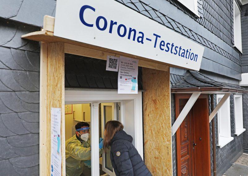 Corona-Teststation
