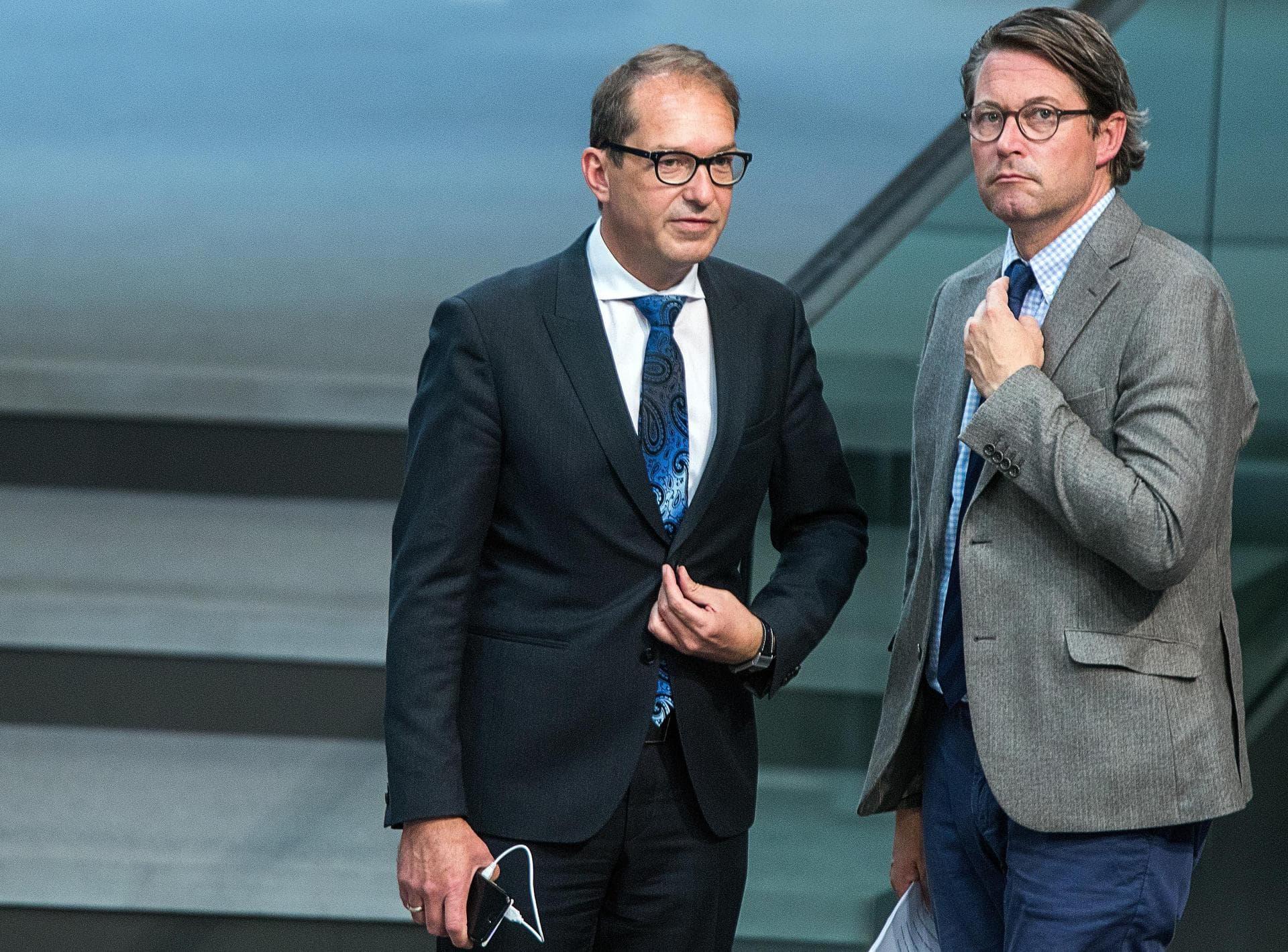 Pkw-Maut: Opposition sieht Dobrindt in Mitverantwortung Umstrittene Maut-Gesetze