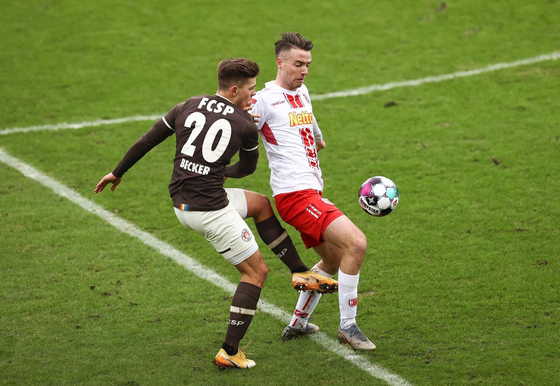 Jahn Regensburg unterliegt zum Hinrunden-Ende 0:2 bei St. Pauli