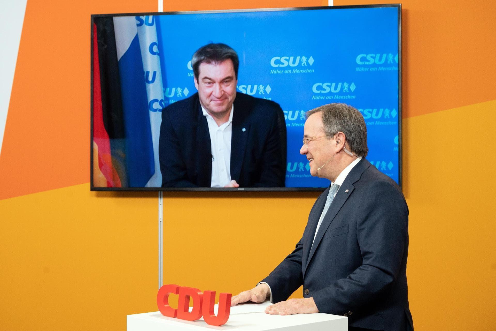 Umfrage: Söders Kandidatenchance nach Laschet-Wahl gestiegen K-Frage in der Union