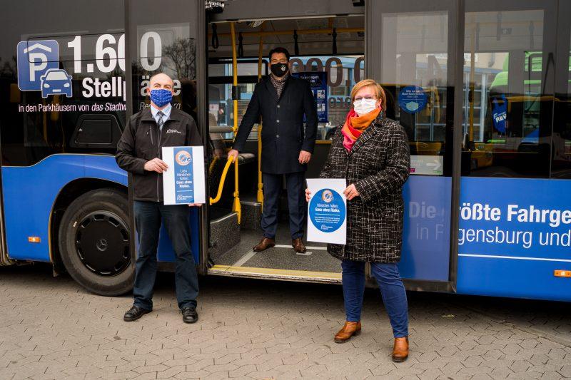 Mehr Sicherheit durch einen antimikrobiellen Lack Die gesamte innerstädtische Busflotte fährt jetzt keimfrei durch Regensburg