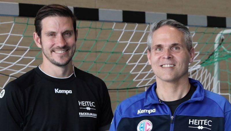 Fünf Fragen an Trainer Haaß (rechts Co-Trainer Tom Hankel)