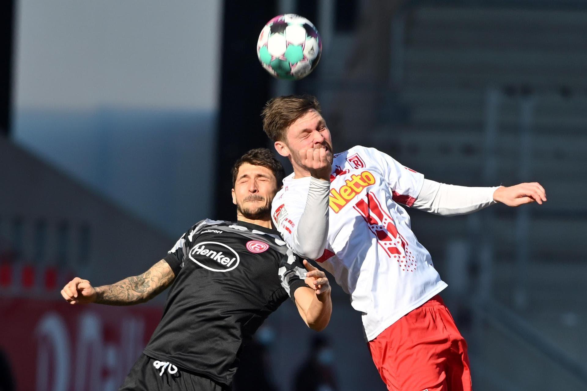 Düsseldorf läuft nicht heiß: Frostiges 1:1 in Regensburg 2. Liga