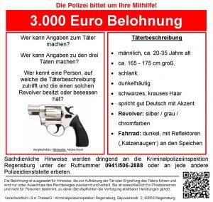 KPI Regensburg EG West - Fahndungsplakat Deutsch