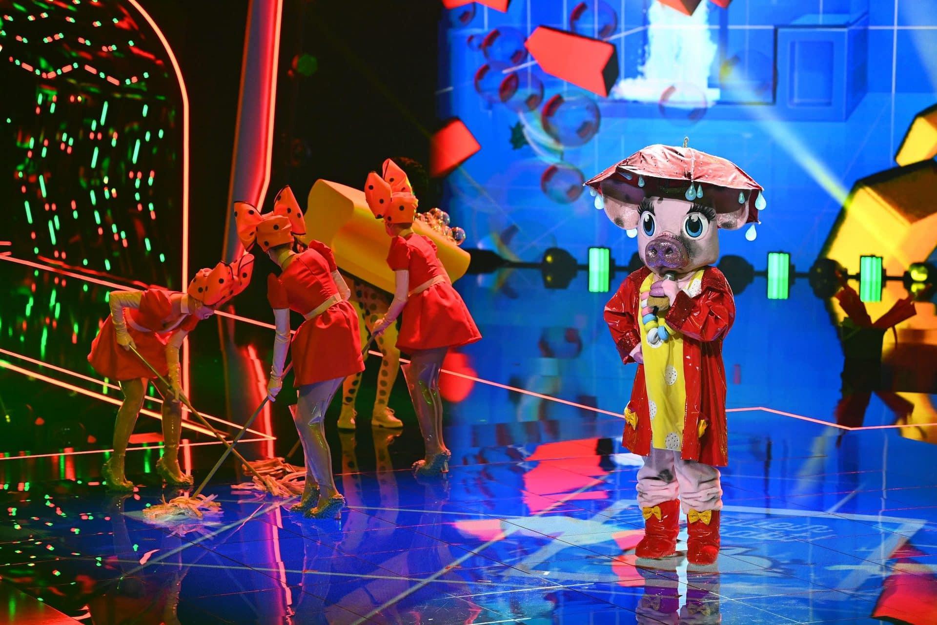 Das Schwein legt die Maske ab Musik-Show «The Masked Singer»