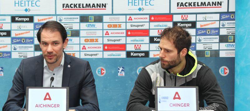 Geschäftsführer René Selke und Spielmacher Nico Büdel